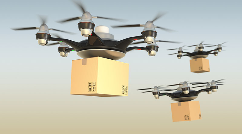 drones-carrying-packages